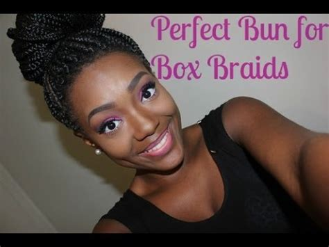 put braids in a bun how to put box braids in a bun how to make do everything