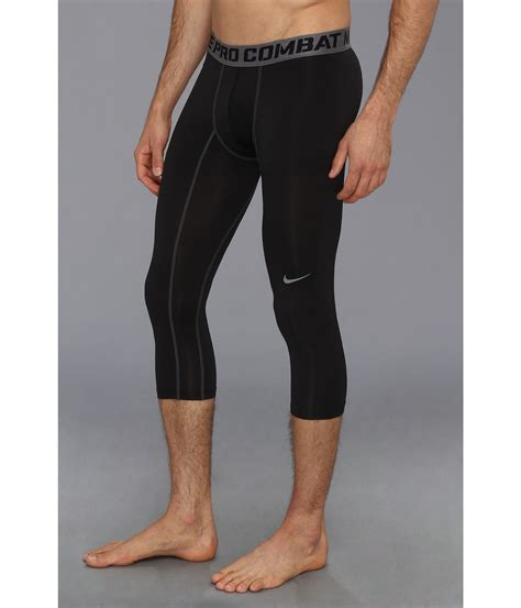 Nike Pro Combat 3 4 nike pro combat compression 3 4 tight zappos