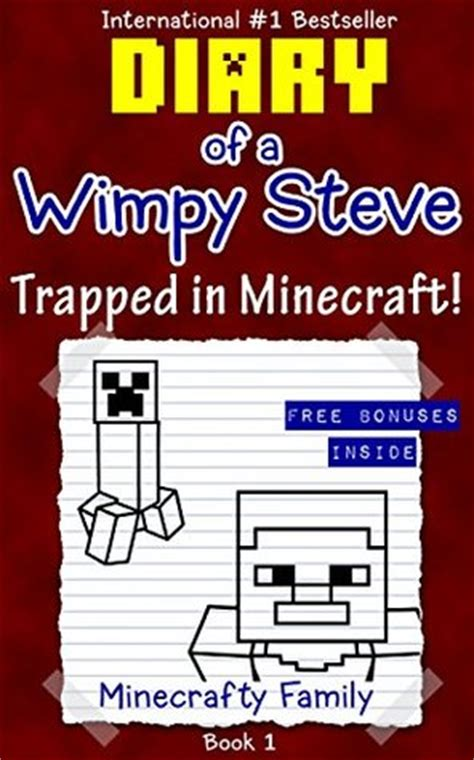 diary of a wimpy noob things noob s diary books diary of a wimpy steve series trapped in minecraft book