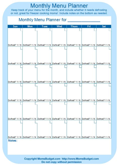 printable monthly budget planner template calendar