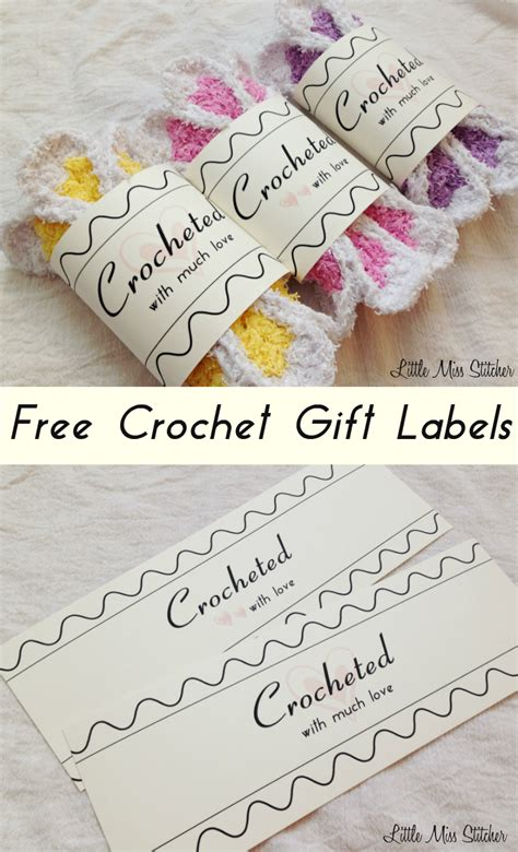 Handmade Labels For Crochet - miss stitcher free crochet gift label