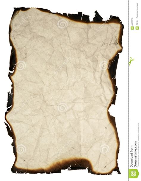 How To Make A Paper Look Burnt - grunge paper with burned edges stock photo image 6623630