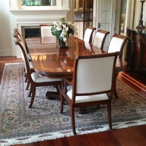 henredon dining room furniture henredon natchez dining table and chairs manotick