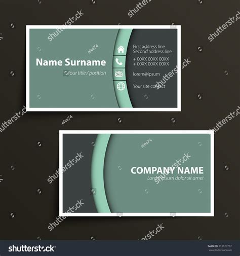 formal business card template modern simple business card template vector stock vector