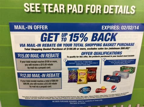 Can You Get Cash Back On A Walmart Gift Card - get 15 off your total purchase up to 15 00 wyb frito lay pepsi products