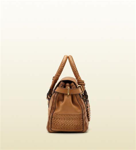 Gucci Handmade Bag - gucci handmade medium top handle bag with woven web detail