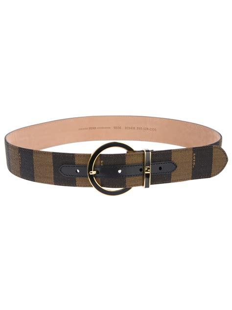 Trendy Fendi Gold Belt by Lyst Fendi Stripe Belt In Brown