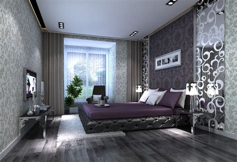 gray and purple bedrooms gray and purple bedroom interior