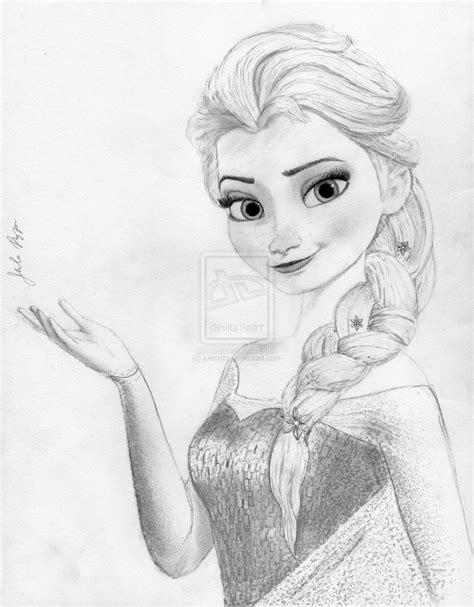 doodle sketch frozen elsa from disney s frozen by julesrizz deviantart on