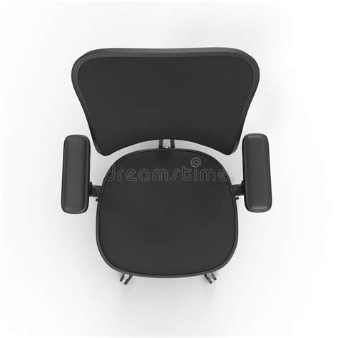 le tissu de vue superieure  couvert la chaise de bureau disolement sur le fond blanc