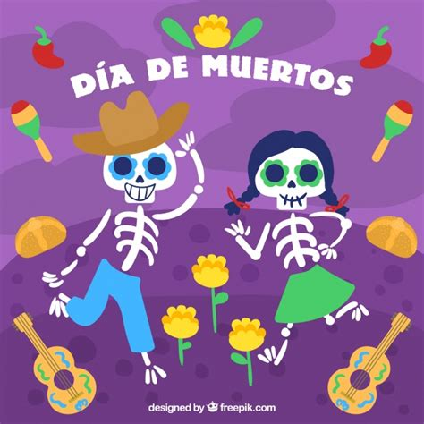 day of the dead background background of day of the dead with skeletons