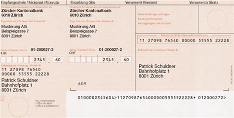 Word Vorlage Einzahlungsschein Zahlungswege Einlesen