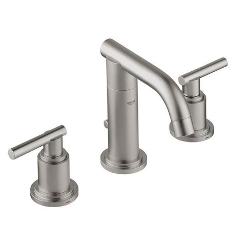 Grohe Atrio 8 In Widespread 2 Handle 1 2 Gpm Bathroom Grohe Bathroom Faucets Brushed Nickel