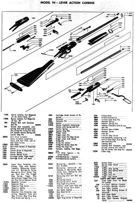 winchester model 94 diagram zoom on winchester model 94 pre 64