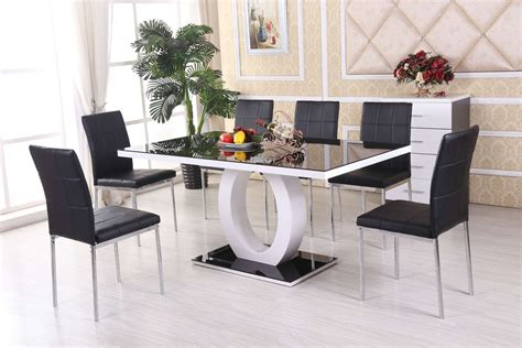 Modern White Dining Room Modern Black And White Dining Room Colors With Luxury Furniture Igf Usa