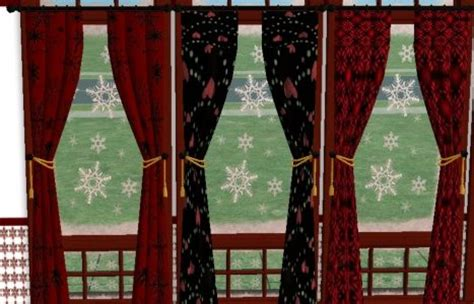 gothic curtains mod the sims gothic christmas curtains