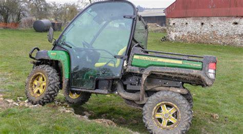 farm buggy test: john deere gator 855d farmers weekly