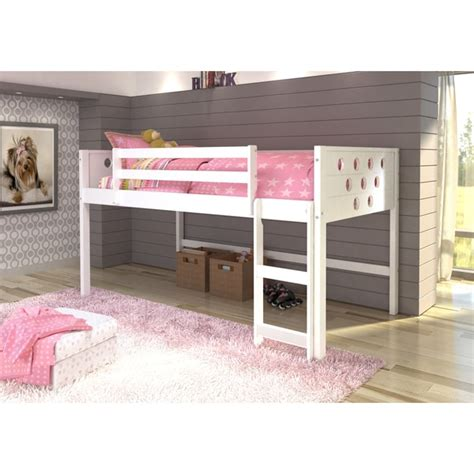 kids low loft bed donco kids circles low loft twin bed 17882045