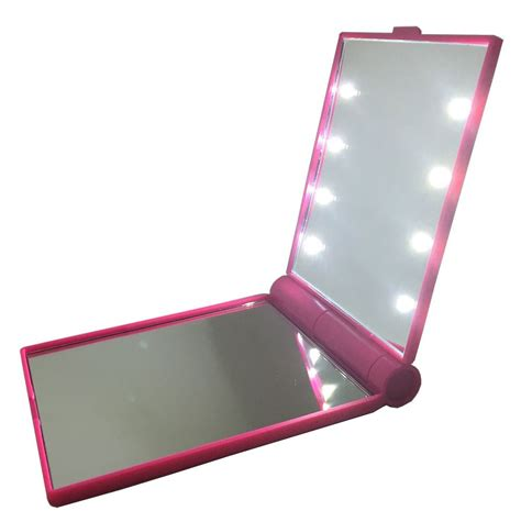 portable makeup mirror with lights portable mirror with lights pocket mirror led travel