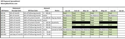 7 Simple Tips To Never Make A Late Payment Again Bill Pay Spreadsheet Template