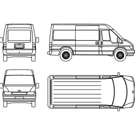 Vans 2d ford transit mwb 2d custom3d