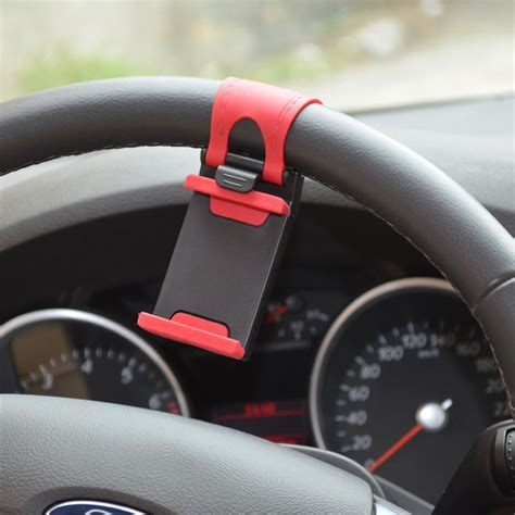Remax Car Steering Wheel Mount Universal Mini Phone Hol car steering mount car holder for smartphone black