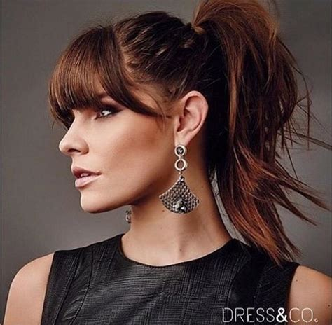 3 fabulous ponytails with bangs pretty designs different style of messy ponytail for summer hairzstyle