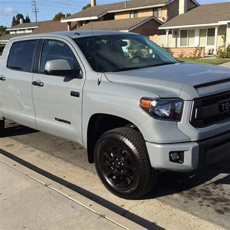 new tundra trd pro in new color code cement   clyde