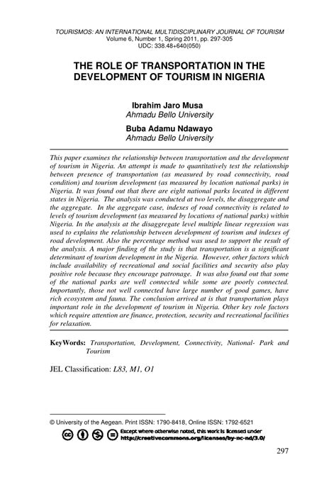 (PDF) The role of transportation in the development of