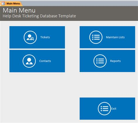 Help Desk Database Template by Microsoft Access Help Desk Ticketing Tracking Database