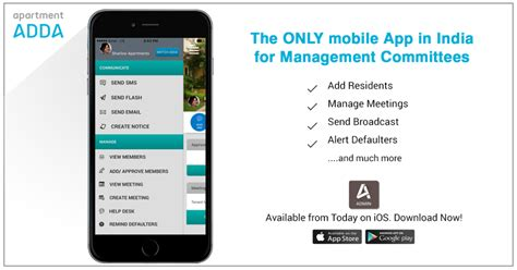 Apartmentadda Iphone App India S 1st App For Management Committee Now In Ios
