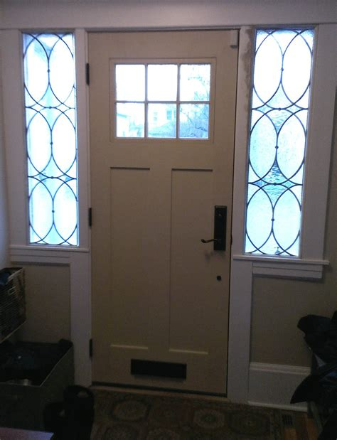 Stained Glass Sidelight Or Transom Vintage Style Sidelights Glass Entry Doors With Sidelights