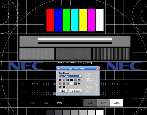 nec test pattern generator