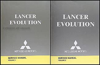 2004 mitsubishi lancer evolution service manual original 2