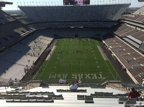 kyle field visitor section kyle field section 415 rateyourseats com