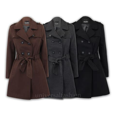 A Salt Pepper Tweed Trench From Navy Adds Style To Even The Most Challenged Budget Fashiontribes Fashion by Coat Womens Jacket Wool Look Tweed Breasted