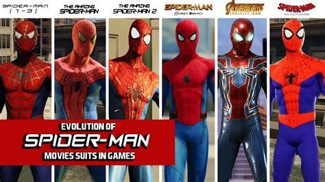 spider man games evolution spider man movies