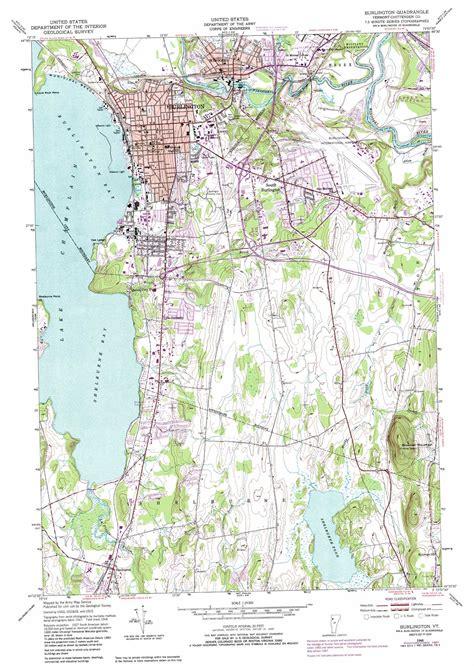 burlington map burlington topographic map vt usgs topo 44073d2