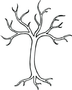 Coloring Bare Tree Clip Art At Clker Com Vector Clip Art Online Royalty Free Public Domain Tree Template