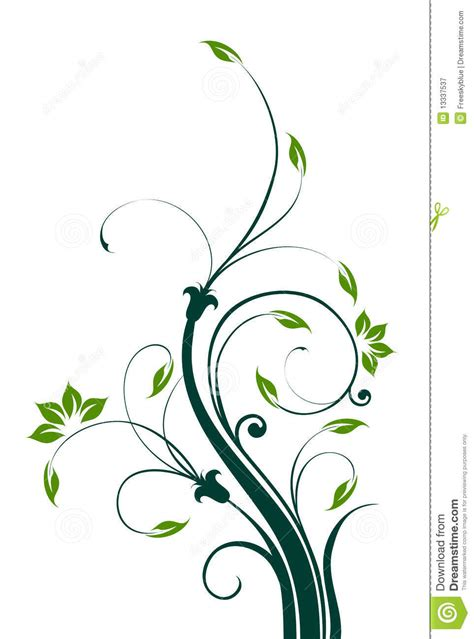 flower and vines pattern royalty free stock photography