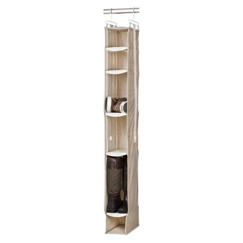 target shoe storage threshold brown linen rigid 6 shelf shoe organizer target