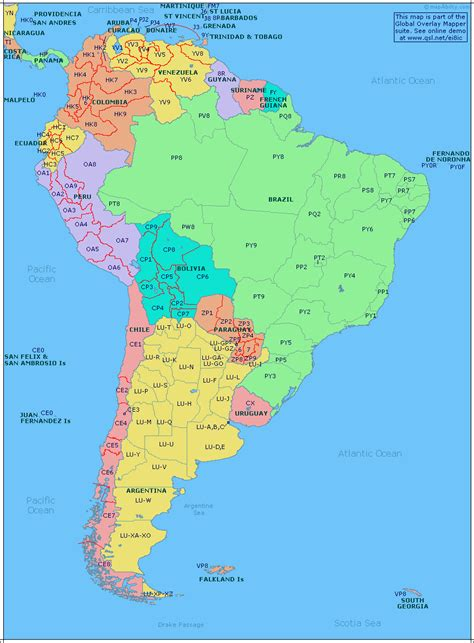 south america map in south america other maps