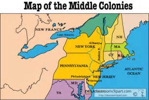 map of middle united states 2 geography of the colonies rude 7th grade