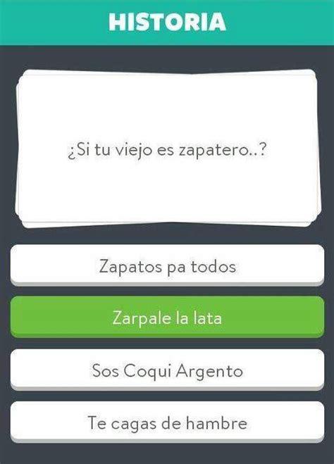 preguntas de cultura general argentina faciles juego preguntados anda diciendo humor taringa