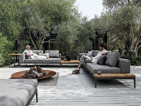 backyard lounge grid sofa grid outdoor lounge collection by gloster design