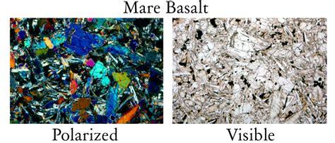 basalt thin section description moon rocks tutorial
