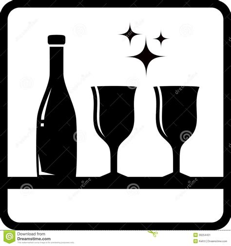 wine silhouette bottle and wine glass silhouette stock vector image