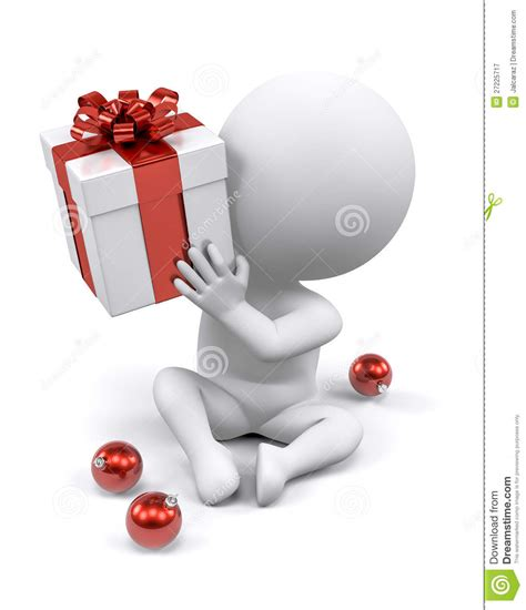 guessing christmas gift royalty free stock photography
