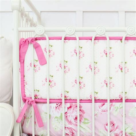 Shabby Chic Roses Ruffle Baby Bedding Swatch Kit Caden Lane Shabby Chic Crib Bedding