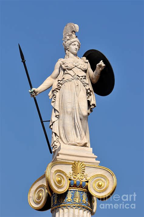 statue of athena photograph by george atsametakis
